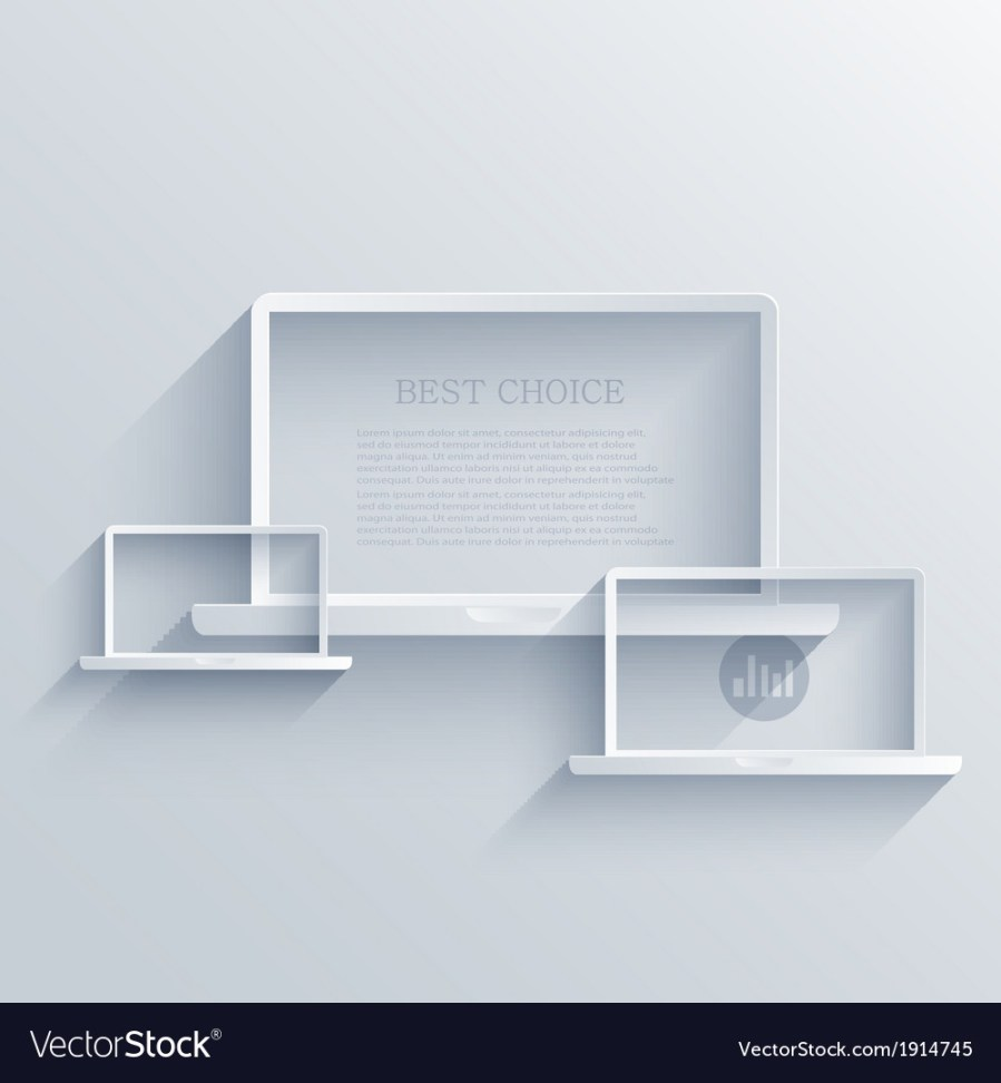 Creative flat laptop background Eps 10 vector image