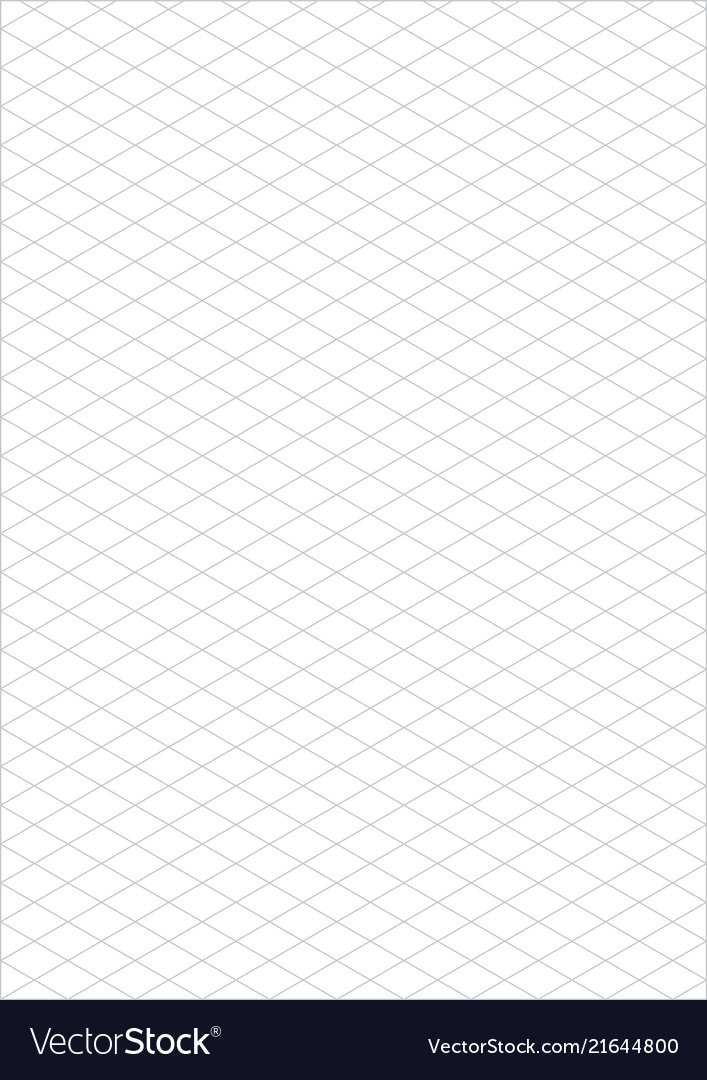 Isometric grid paper a4 portrait Royalty Free Vector Image