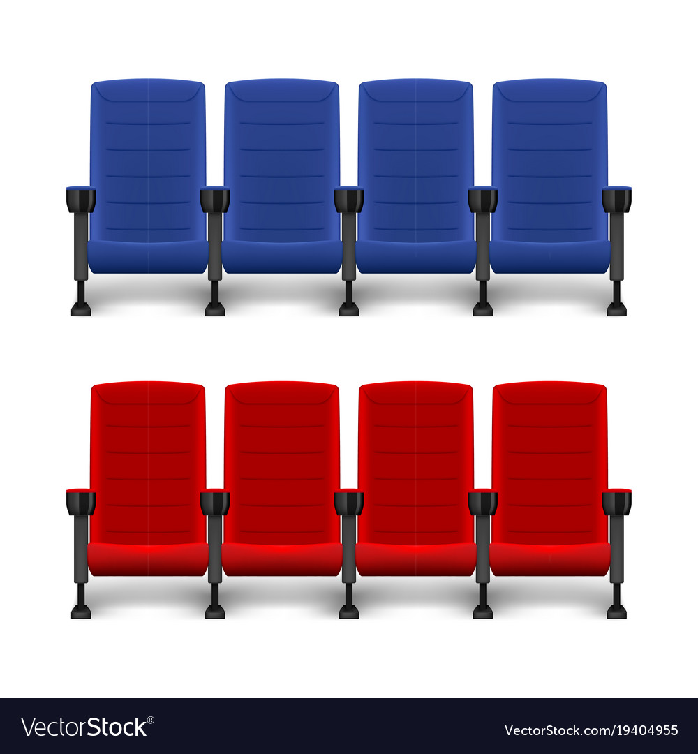 Chairs Comfortable Realistic Comfortable Movie Chairs Cinema Empty