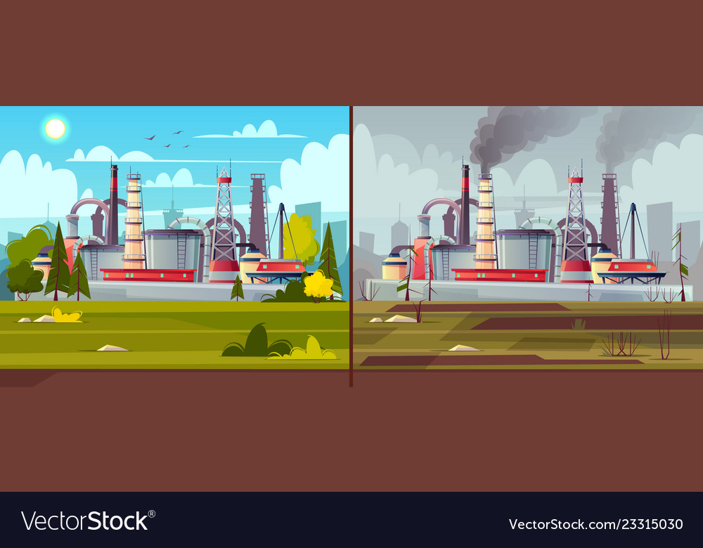 Ecology concept environmental pollution Royalty Free Vector