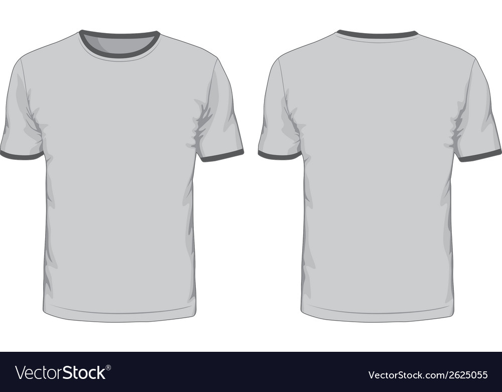 Mens t-shirts template Front and back views Vector Image