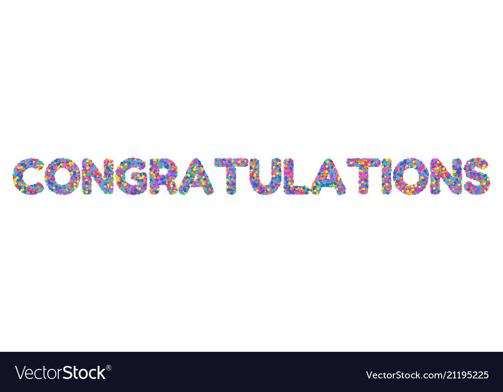 Congratulations on the confetti Royalty Free Vector Image