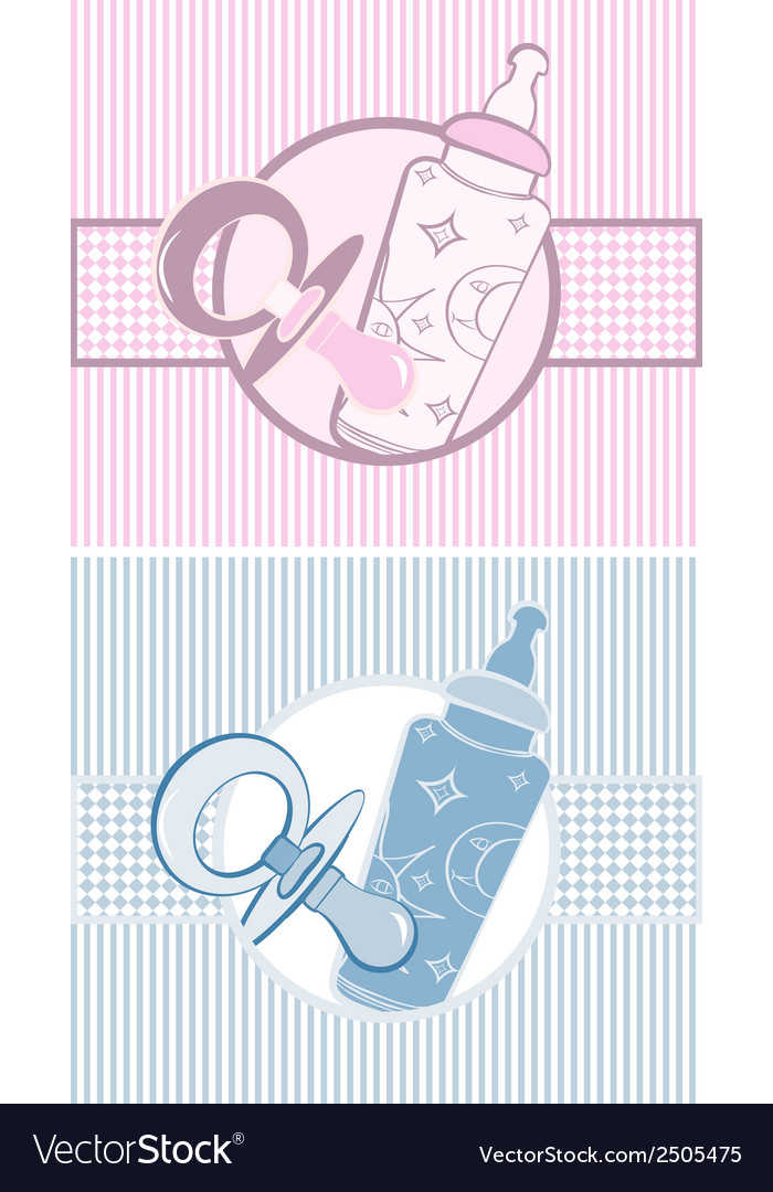 Set of baby banners Royalty Free Vector Image - VectorStock