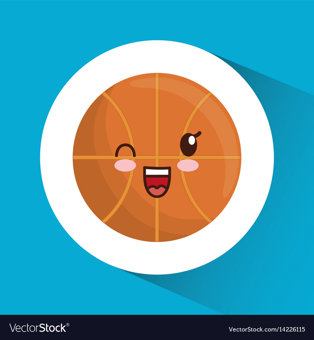 Basketball Ball Kawaii Basketball Ball Icon