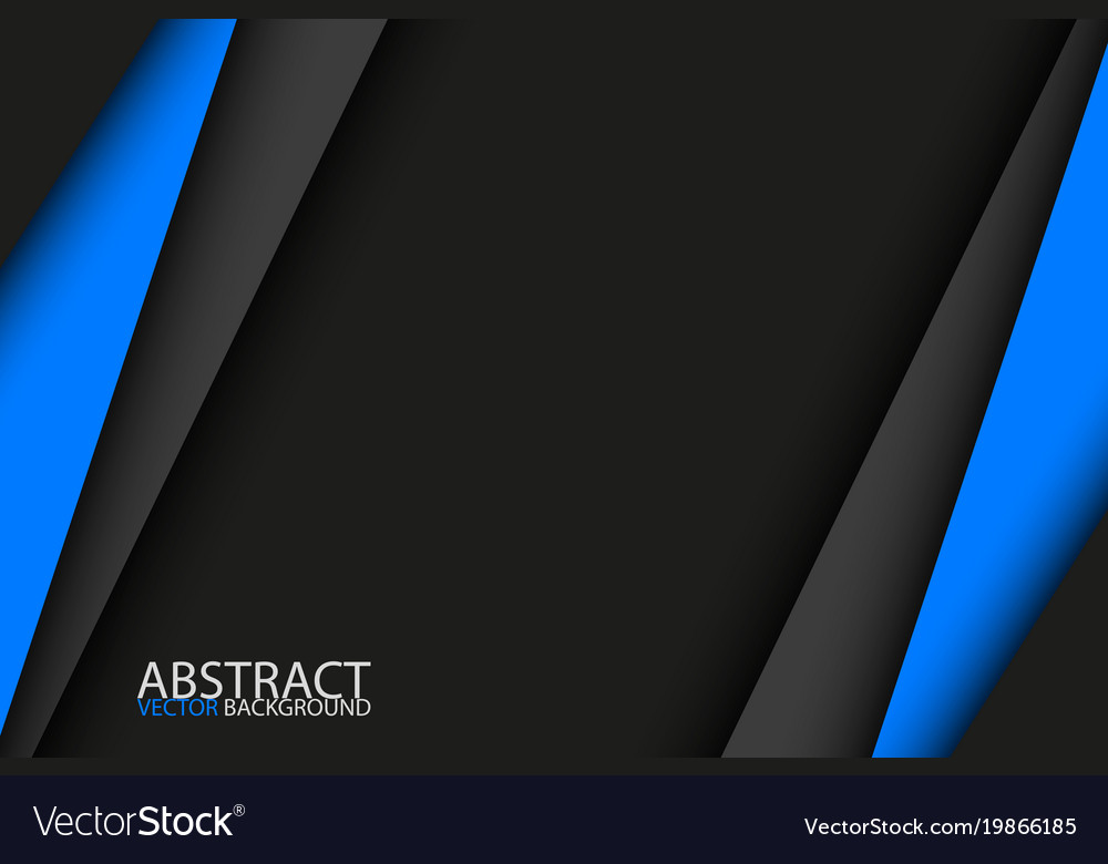 Black and blue modern material design background Vector Image