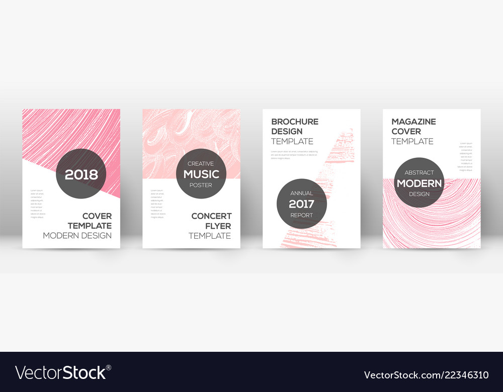 Cover page design template modern brochure Vector Image