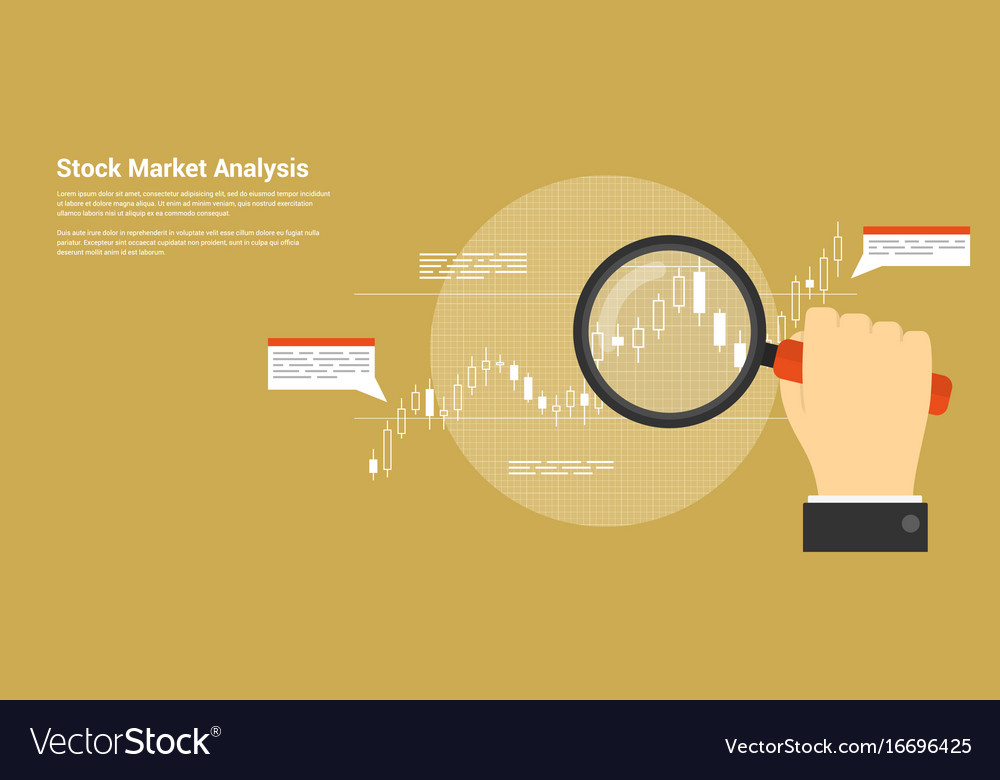Stock market analysis Royalty Free Vector Image