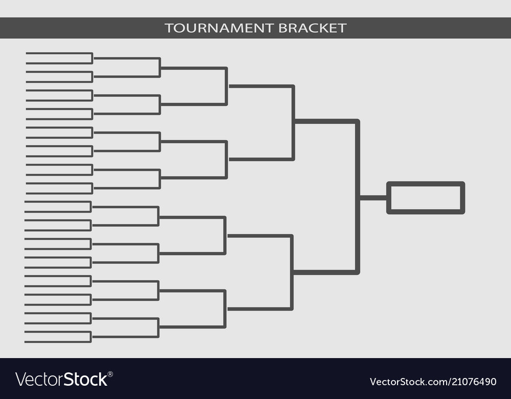 Tournament bracket championship template Vector Image