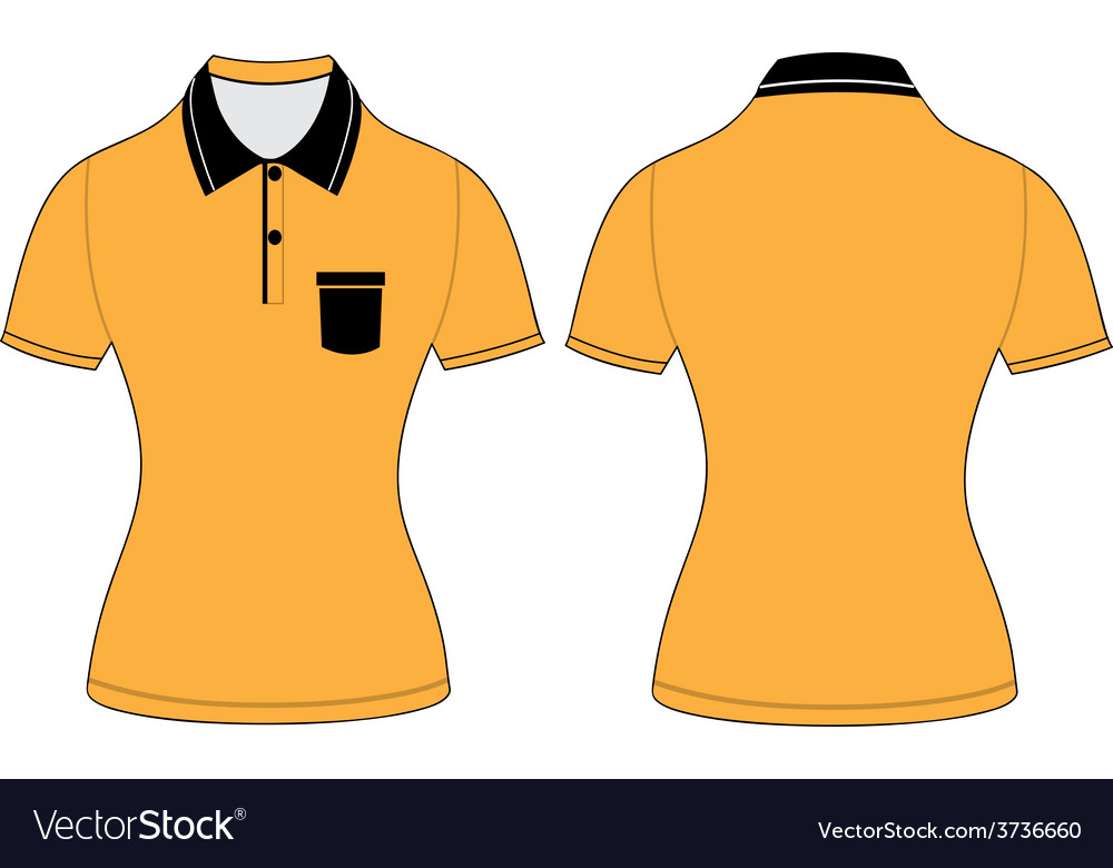 Polo woman shirt design templates Royalty Free Vector Image