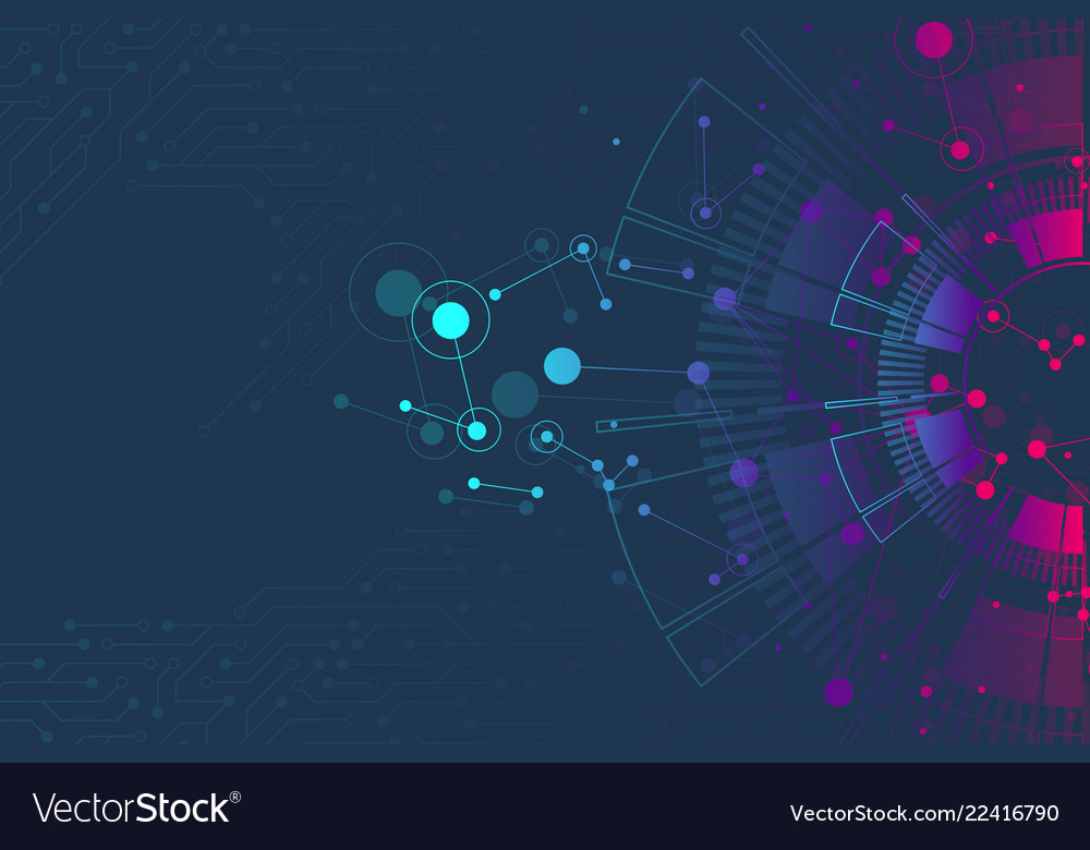 Abstract background with technology circuit board Vector Image