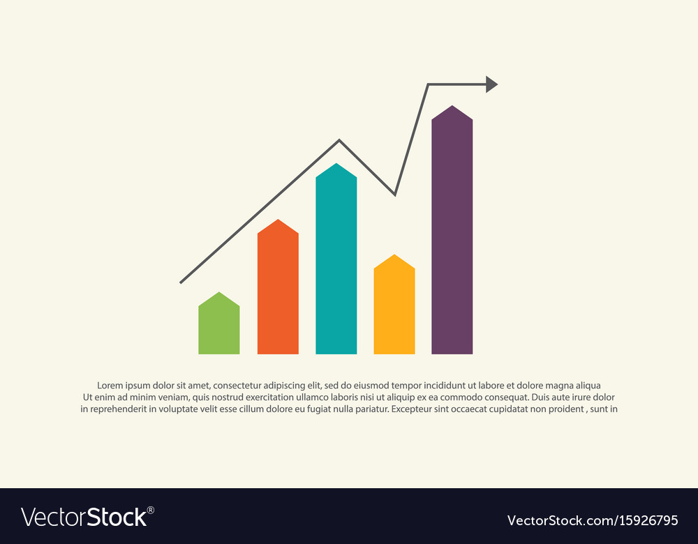 Financial graph chart business design Royalty Free Vector