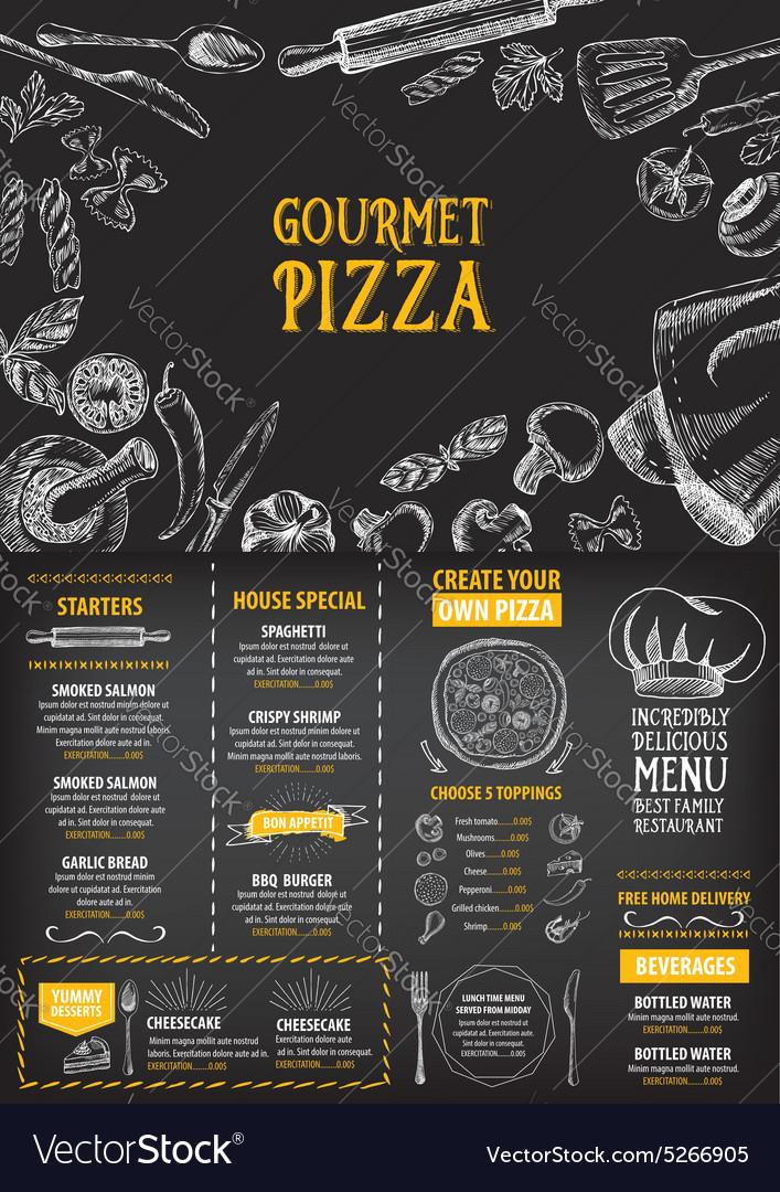 Restaurant cafe menu template design Food flyer Vector Image - Cafe Menu Template