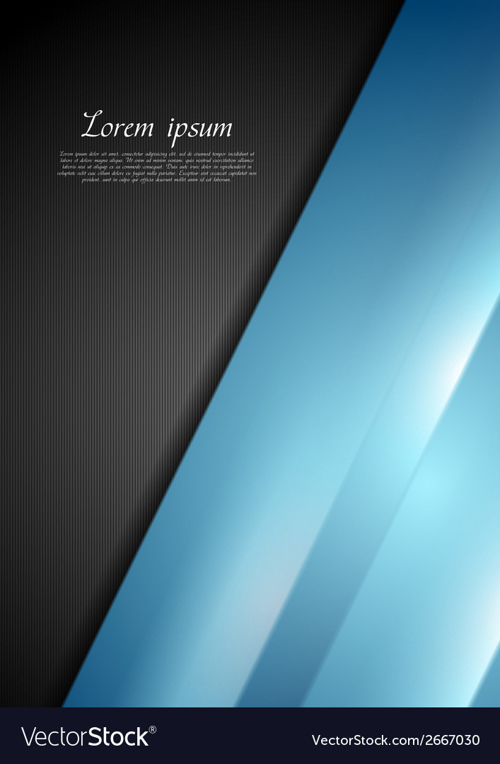 Abstract contrast black and blue background Vector Image
