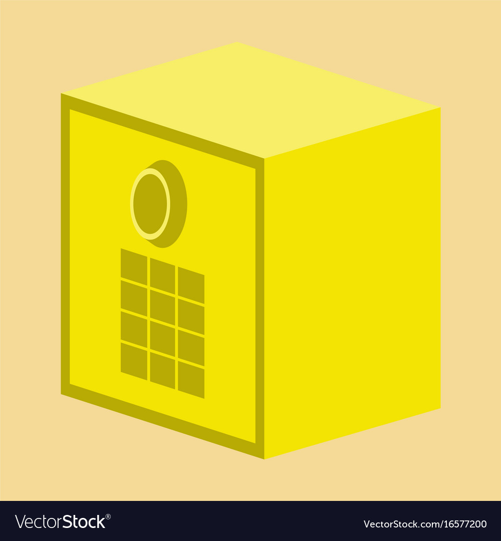 Filing Cabinet Icon Flat Flat Icon On Stylish Background Money Safe