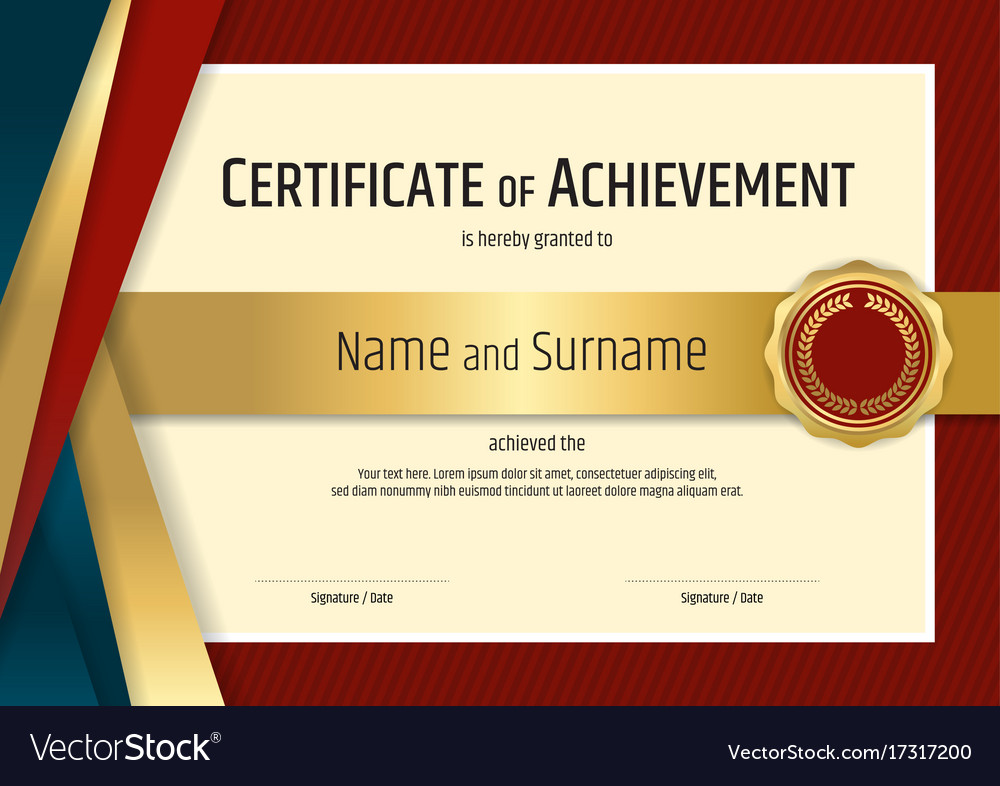 Luxury certificate template with elegant border Vector Image - certificate layout