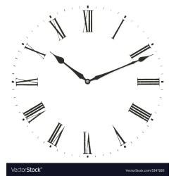 Small Crop Of Roman Numerals Clock