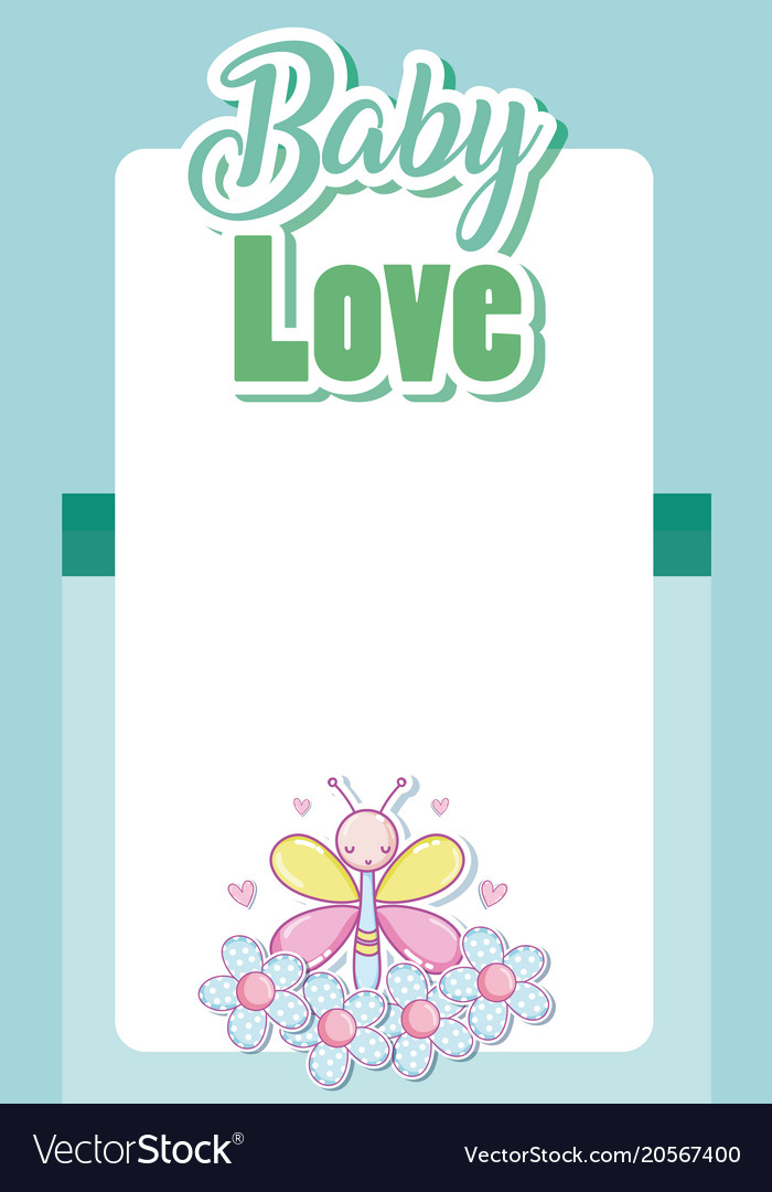 Baby love card cartoons Royalty Free Vector Image