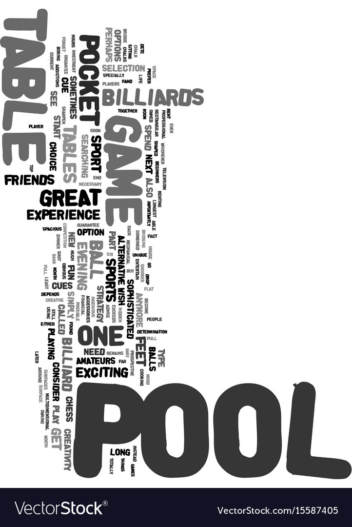 Your sport is pool text word cloud concept Vector Image