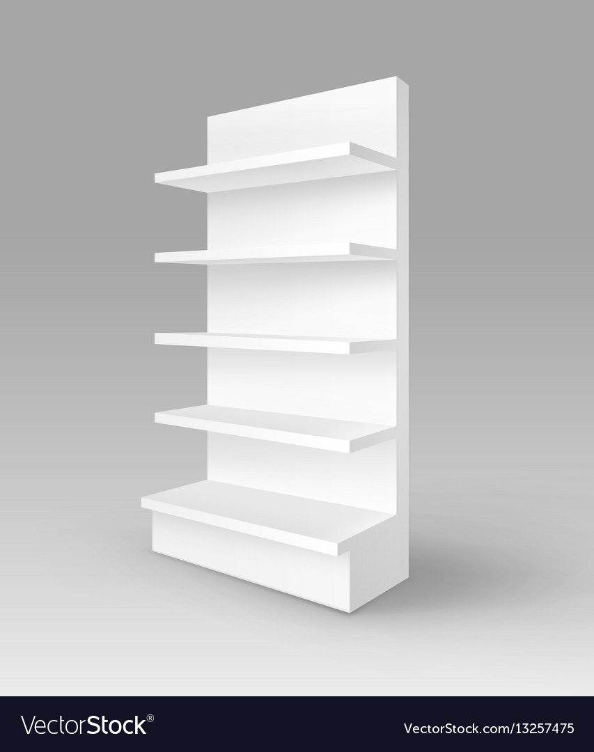 Shelving Shop Blank Empty Exhibition Trade Stand Shop Rack