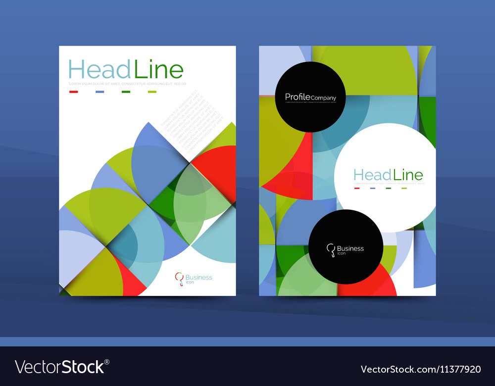 Business annual report cover design template Vector Image