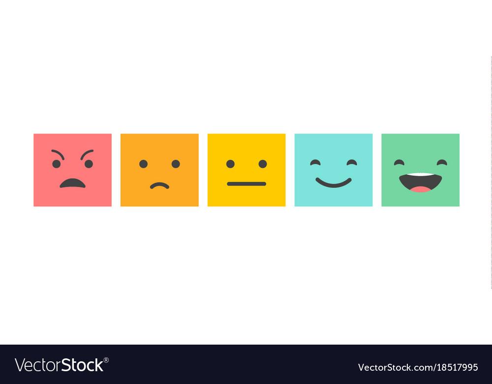 Emoticons scale satisfaction survey Royalty Free Vector