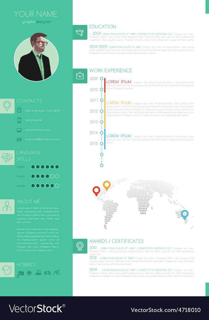 Elegant Minimalist Style Resume - CV Royalty Free Vector