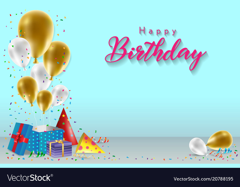 Happy birthday background template Royalty Free Vector Image