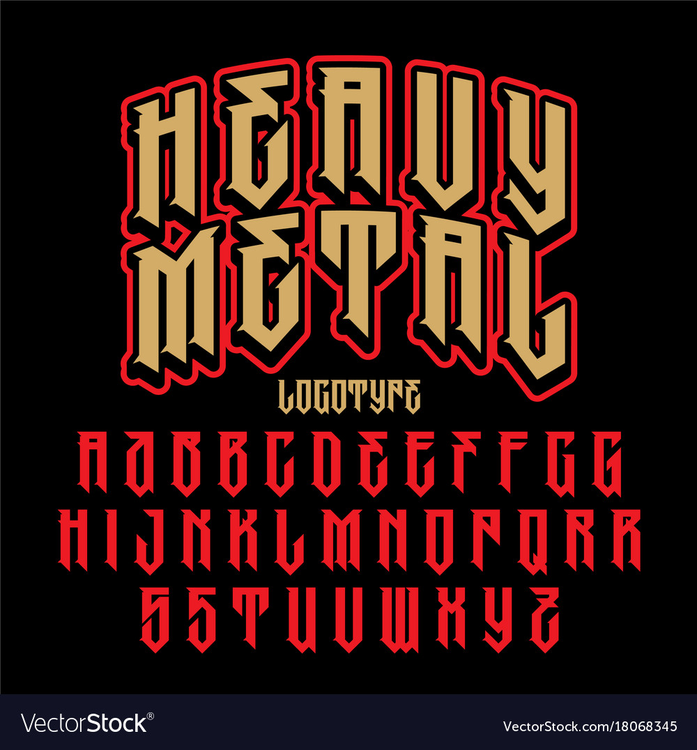 On Heavy Metal Heavy Metal Alphabet