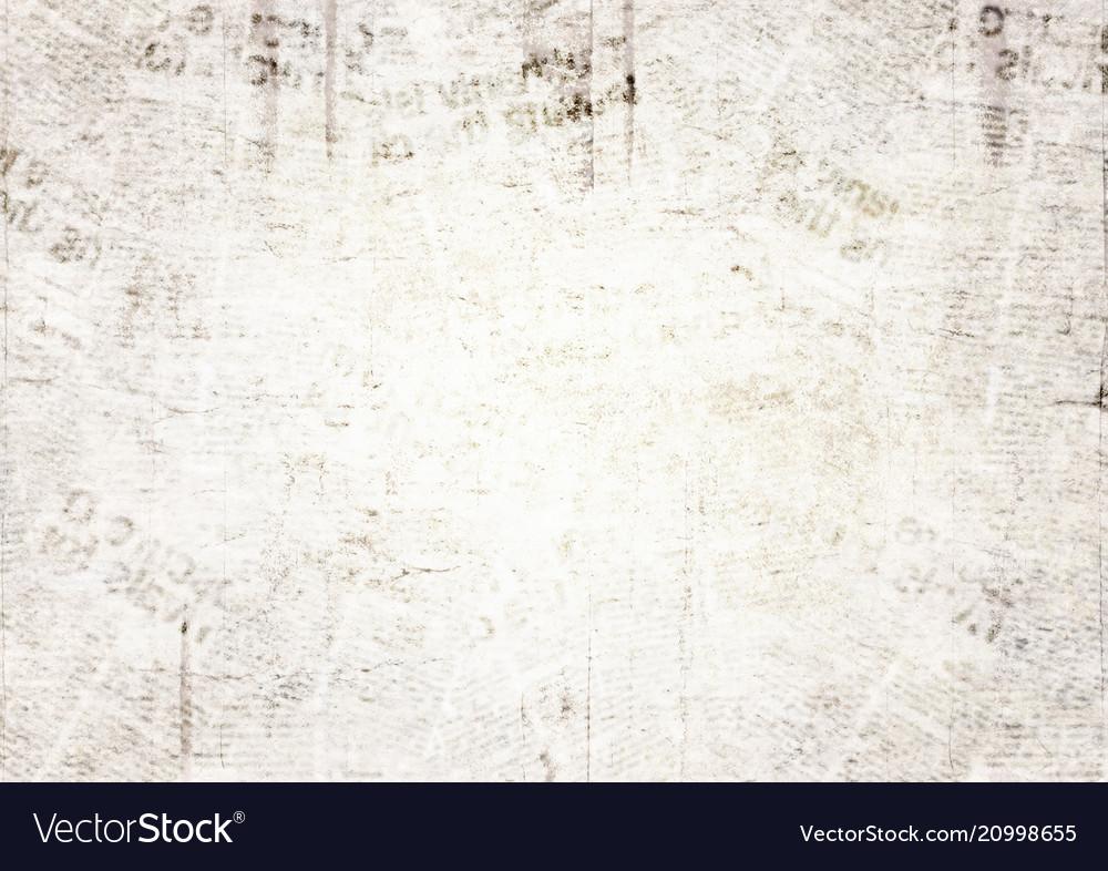 Vintage grunge newspaper texture background Vector Image
