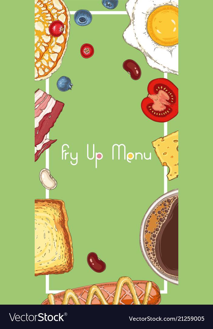 Breakfast menu template Royalty Free Vector Image