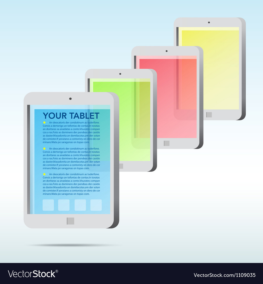 Der Tablet Abstract Tablet Icon Background Vector Image On Vectorstock