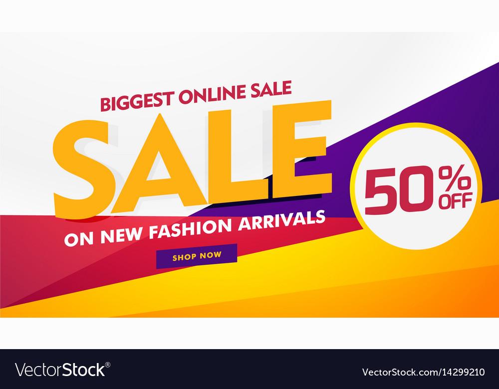 Biggest online sale poster banner template design Vector Image - sale poster design