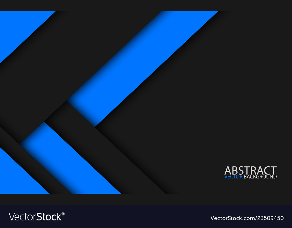 Black and blue modern material design abstract Vector Image