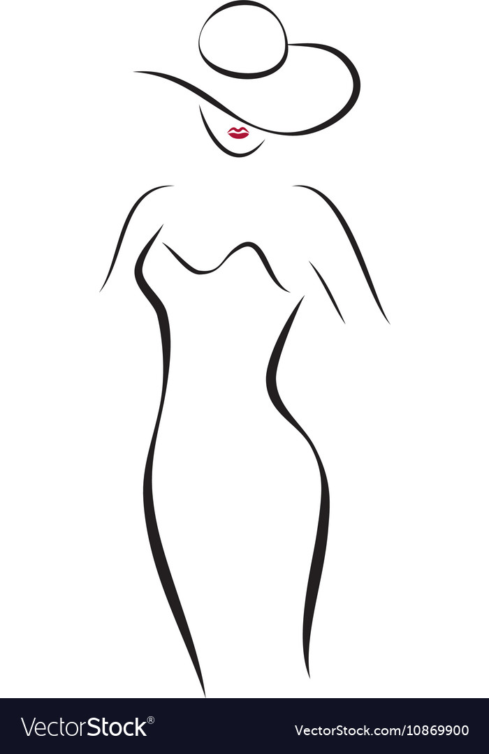 Fashion Lady in a Hat Royalty Free Vector Image