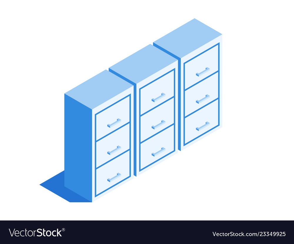 Filing Cabinet Icon Flat Filing Cabinet Archive Of Documents Icon