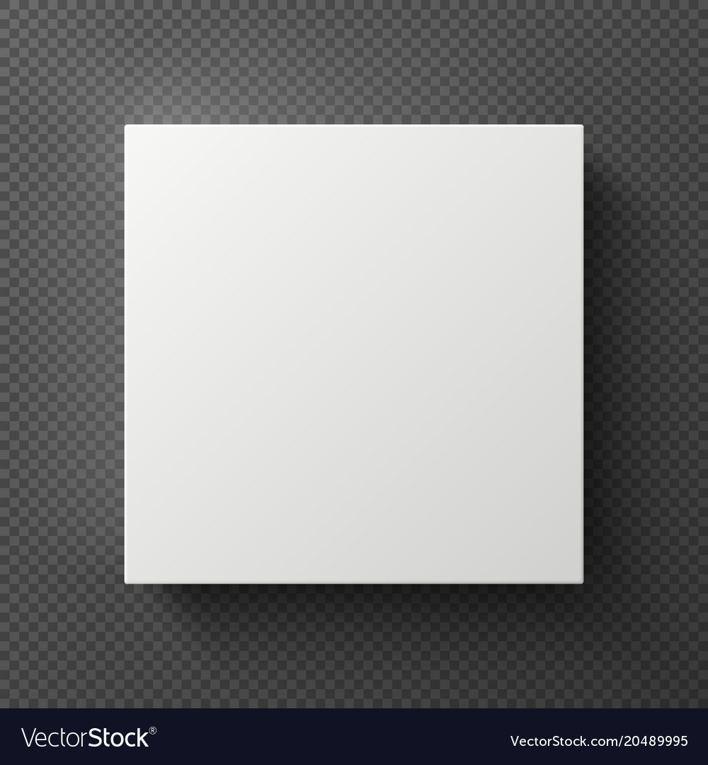 Square Box White Blank 3d Square Box With Shadow Sample