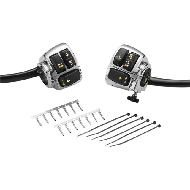 Backlit Amber LED Handlebar Switches and Wiring Harness Kit
