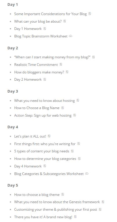 How to Start a New Self-Hosted Blog on Bluehost (a Step-by-Step - table of contents template
