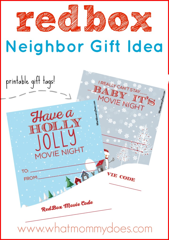 Cute Redbox Neighbor Christmas Gift Idea What Mommy Does