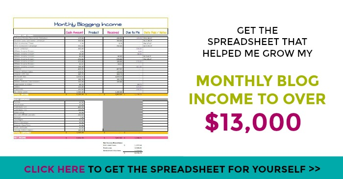 The Income Tracking Spreadsheet I Used to Grow My Blog Income from - patient tracking spreadsheet