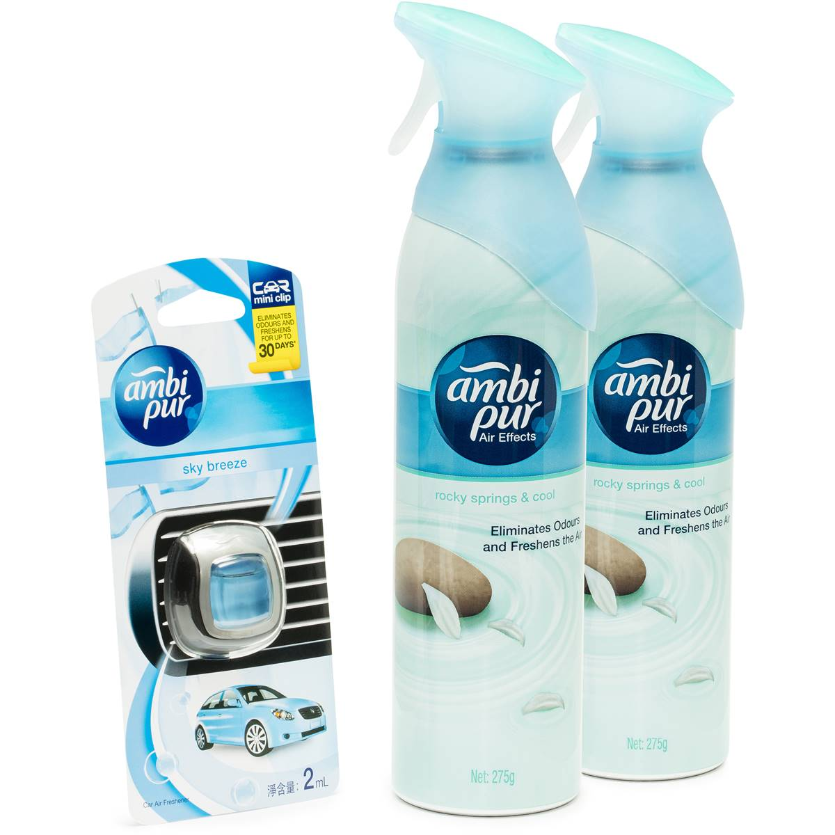 Ambi Pur Ambi Pur Rocky Springs Air Freshener With Car Freshener