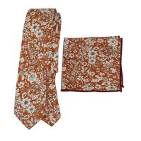 Buy Men's Floral Neck Tie and Matching Pocket Square by ...