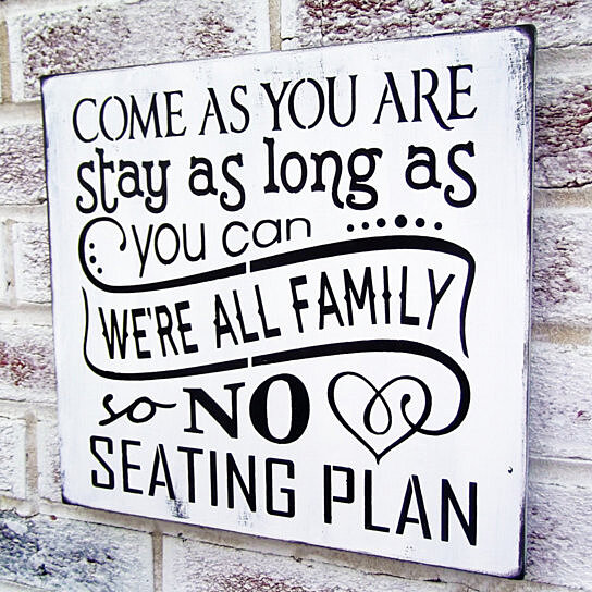 Buy Come as you are no seating plan sign, Wedding Signs, Beach