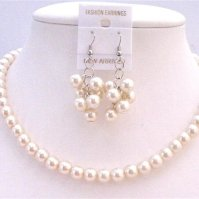 Buy Ivory Pearls Bridal Bridesmaid Flower Girl Wedding ...