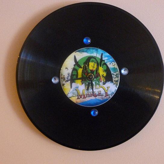 Buy Bob Marley Recycled Vinyl/CD Record Wall Clock Art by
