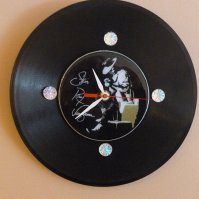 Buy Stevie Ray Vaughan Recycled Vinyl Record/ CD Clock ...