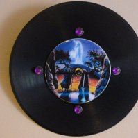Buy Wizard/Unicorn Recycled Vinyl Record/ CD Clock Wall