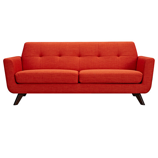 Retro Orange Vinyl Sofa Buy Retro Orange Dania Sofa - Wlanut By Nyekoncept On Dot & Bo