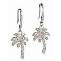 Buy Sterling Silver Palm Tree Dangle CZ Earrings by ...