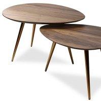 Buy Mid-Century Modern Coffee Table Nesting Set Walnut ...